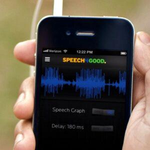 Image de l'application Speech4Good sur un smartphone