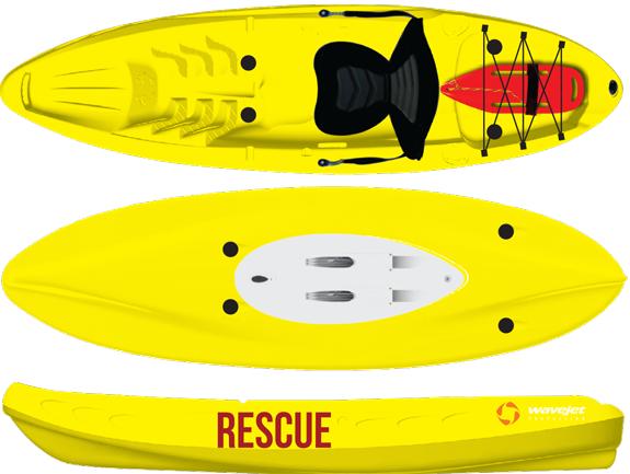 Diapo 6 : Petit Canoë jaune 'rescue'.