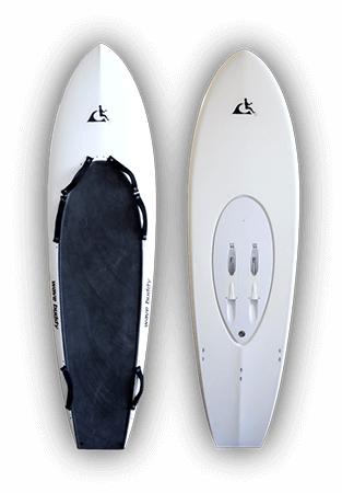 Diapo 2 : Planches de glisse blanche Wavejet.