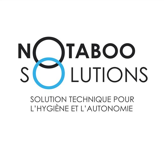 Diapo 2 : Logo de l'association NoTaboo Solutions légende: 'Solution technique pour l'hygiène et l'autonomie'