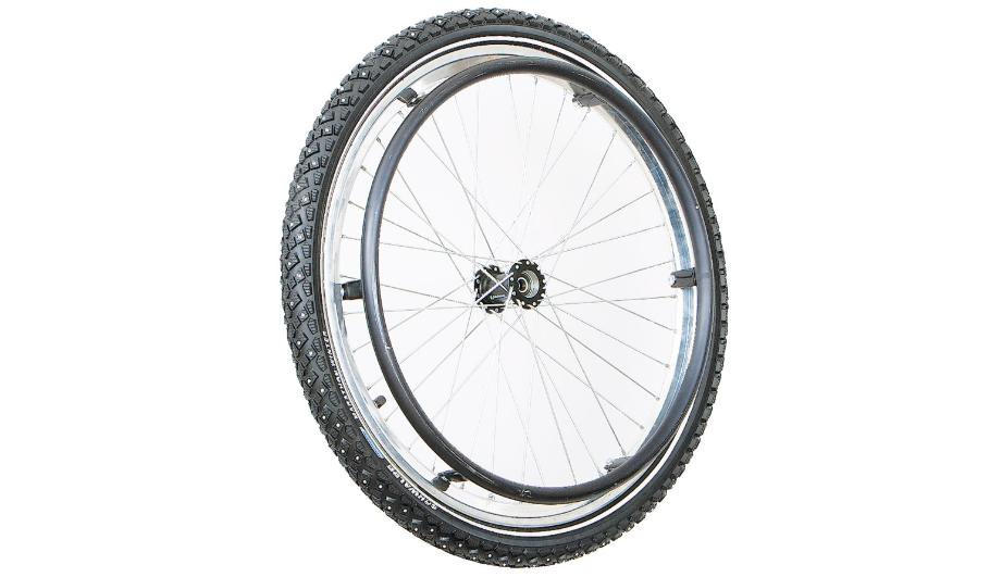 Diapo 2 : Roue Jantes à pneu cranté.