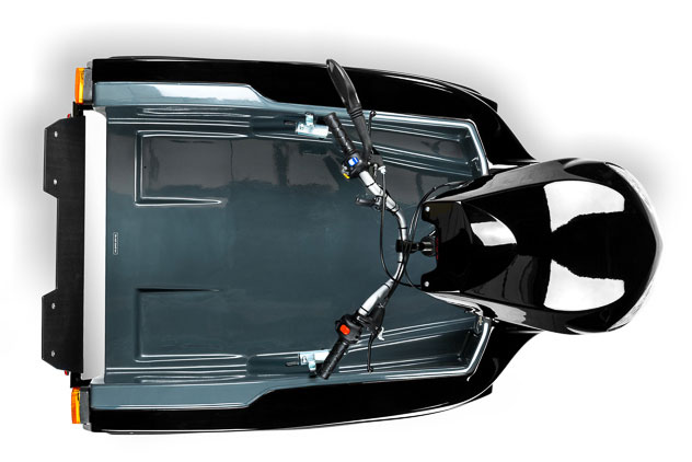 Diapo 3 : Pendel Mobility Scooter, vu du dessus.