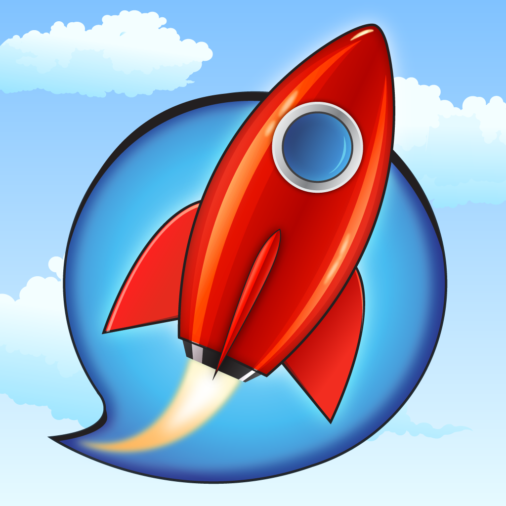 Diapo 2 : Logo de l'application TalkRocketGo.