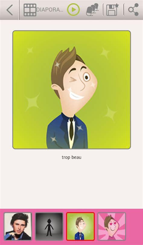 Diapo 4 : Application Talk Different, dessin d'un personnage souriant en clignant de l'œil, légende 'trop beau'.