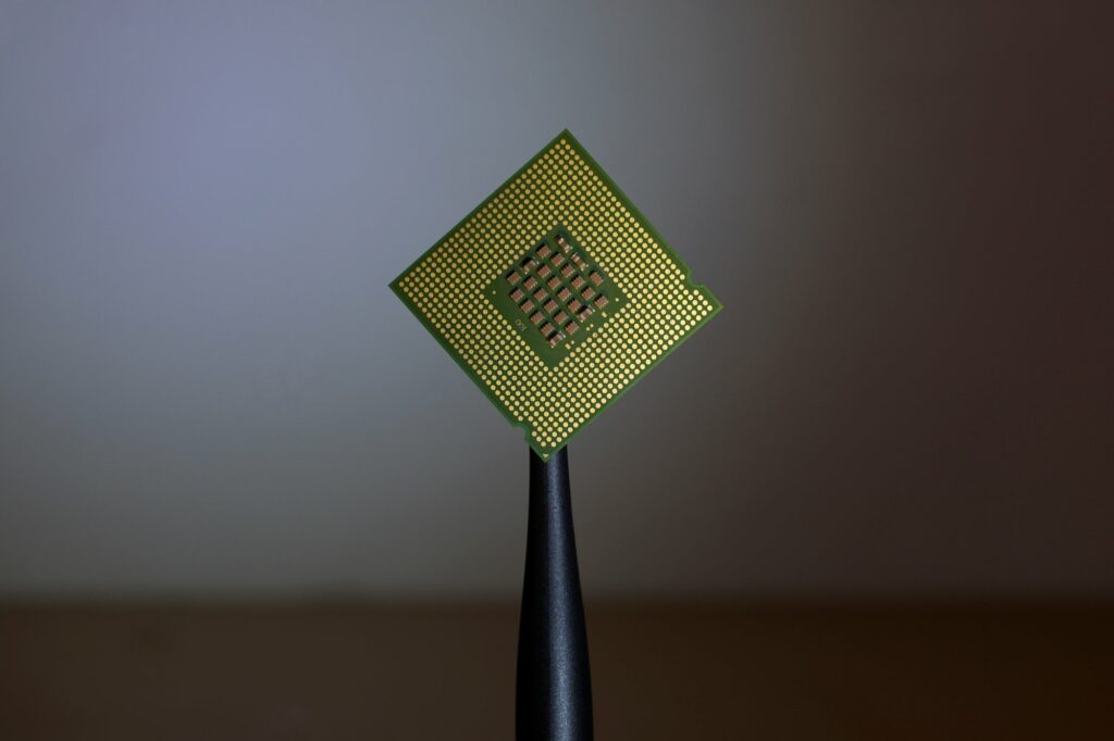 Diapo 3 : Image de la nanopuce IBM