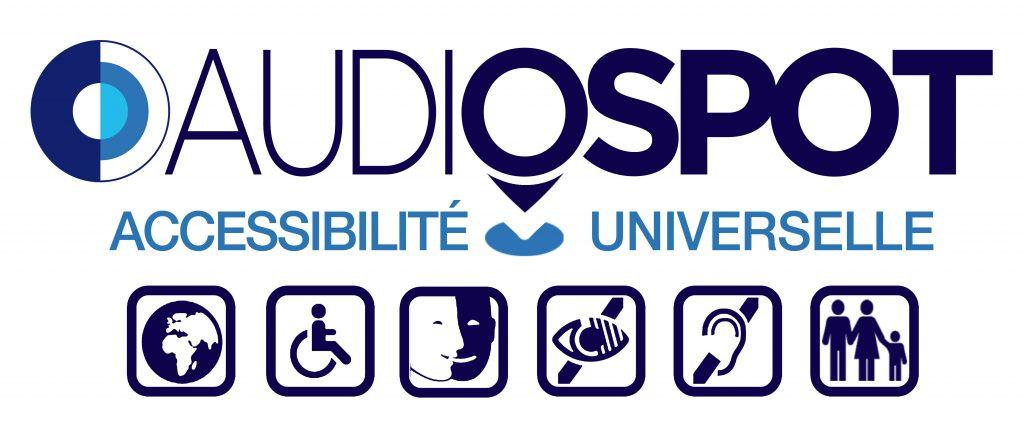 Diapo 2 : Logo d'Audiosport avec toutes les fonctionnalités qu'offre l'application