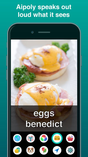 Diapo 5 : Application Aipoly vision reconnaissant des œufs.
