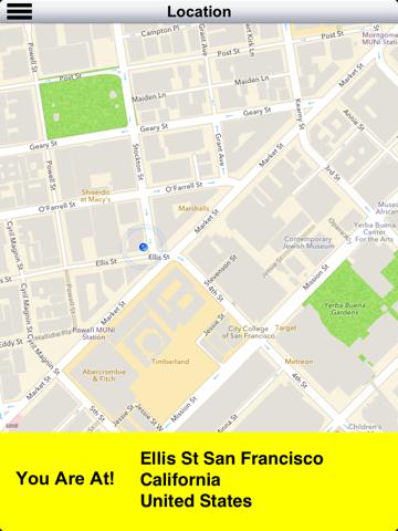 Diapo 4 : Image de l'application Clear Sight représentant un plan de localisation