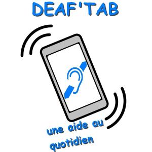 Logo du projet Deaf'tab, légende : «Deaf'tab une aide au quotidien»