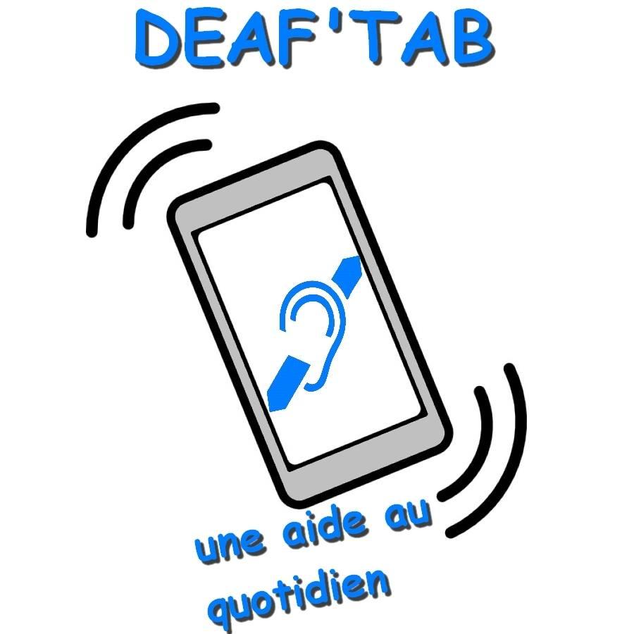 Diapo 3 : Logo du projet Deaf'tab, légende : 'Deaf'tab une aide au quotidien'