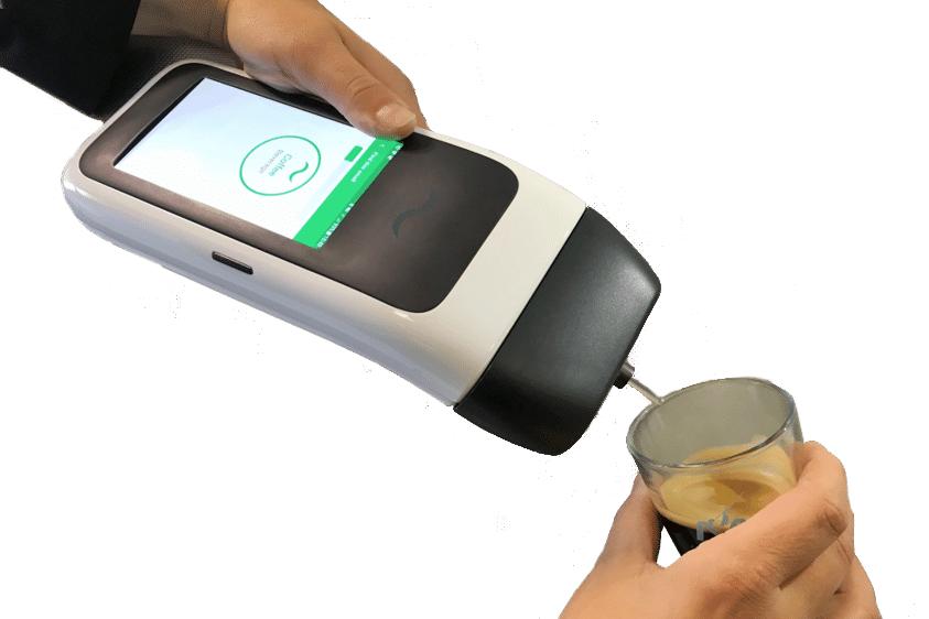 Diapo 2 : Appareil NeOse Pro, utilisé pour reconnaître l'odeur d'une tasse de café.