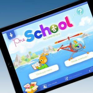 Interface de PreSchool sur une tablette