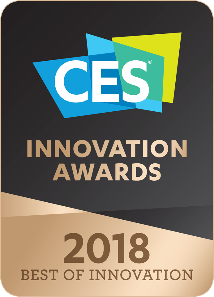 Diapo 3 : Logo des CES innovation awards 2018