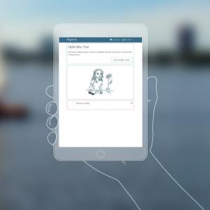 Illustration représentant le site Deprexis sur tablette.