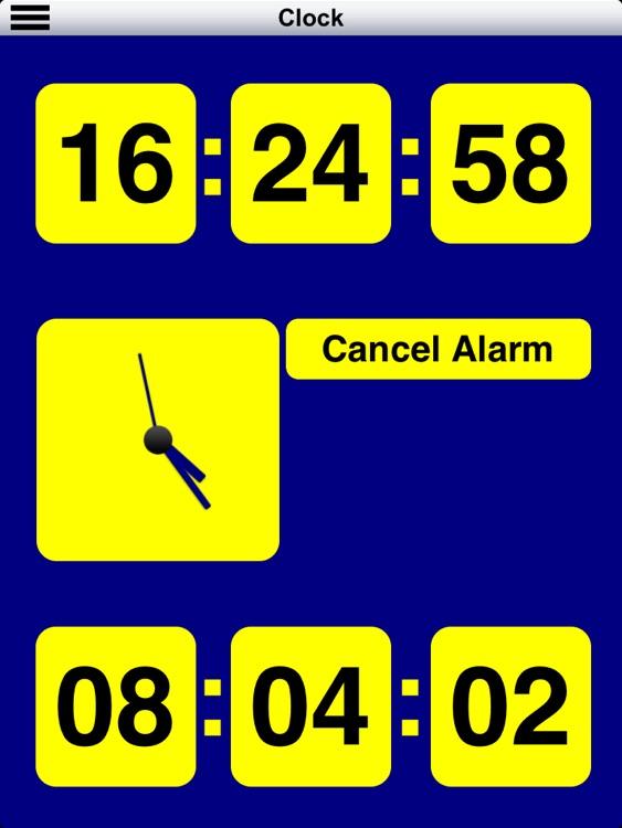 Diapo 5 : Image de l'application Clear Sight représentant l'heure en gros caractères