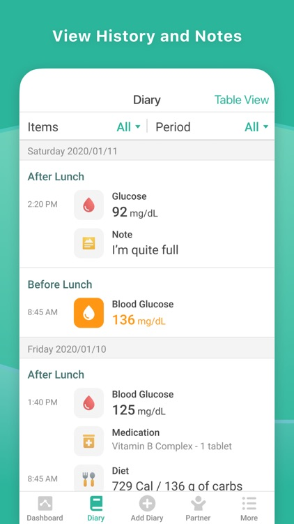 Diapo 3 : Smartphone affichant l'application Health2Sync avec le journal de santé de la personne