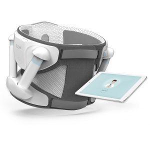 Exosquelette Atlas, et son application, présentée sur une tablette.