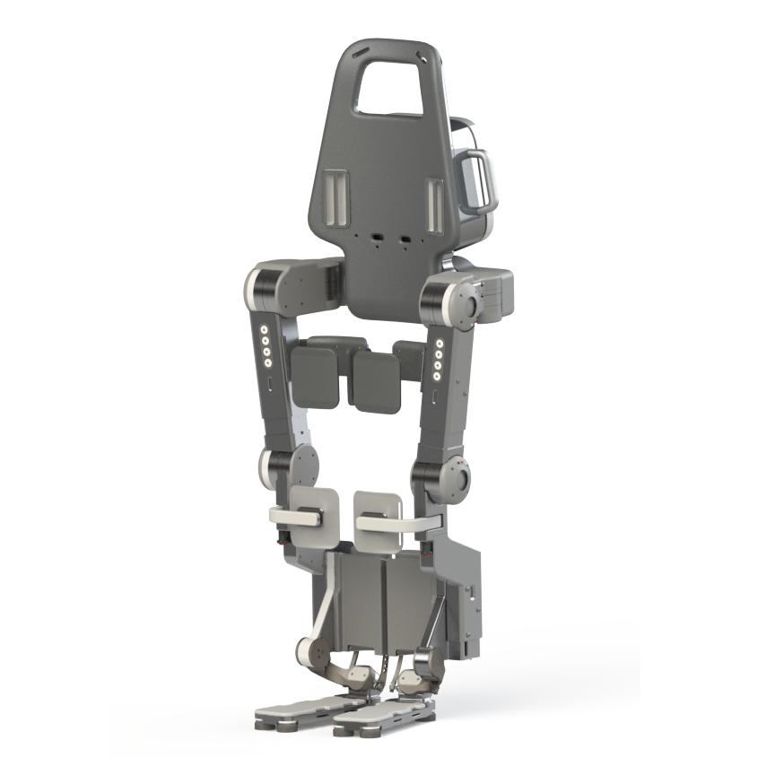 Diapo 2 : Exosquelette Wandercraft, de face.