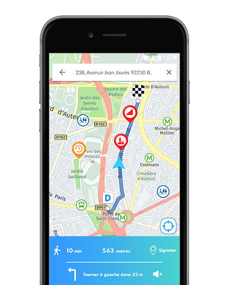 Diapo 3 : Fonction GPS de l'application Streetco.