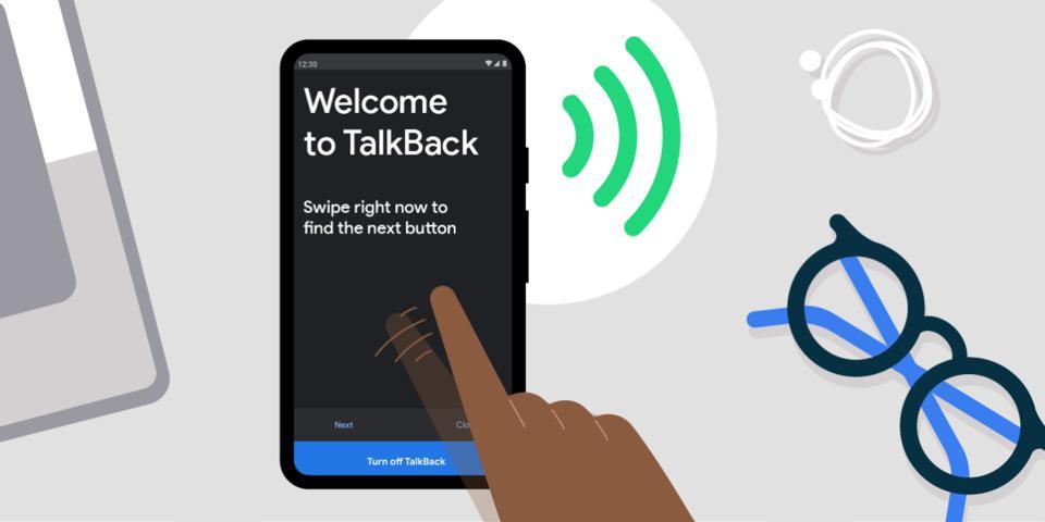 Diapo 4 : Image de Talk Back sur un smartphone