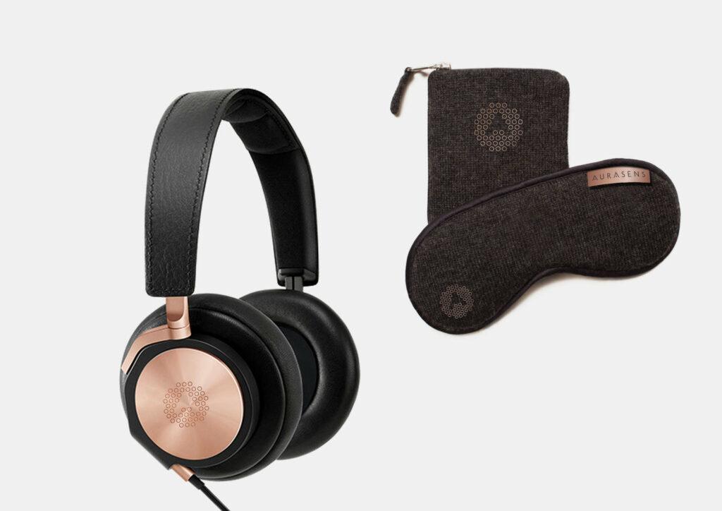 Diapo 6 : Photo d'un casque audio et d'un masque The Lounger
