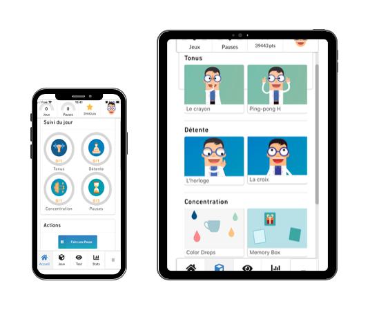 Diapo 4 : Image de l'application Vizygood sur une tablette et un smartphone