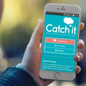 Interface de l'application catch it sur un smartphone