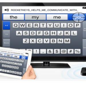 Application RocketKeys sur un écran d'ordinateur et sur une tablette
