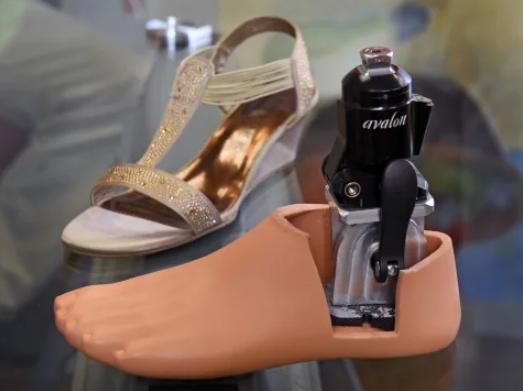 Diapo 2 : Photo d'une prothèse de pied Prominence Foot et d'un talon