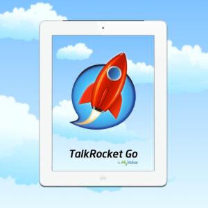 Image du logo de TalkRocket Go dans une tablette