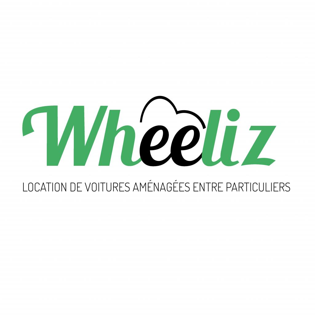Diapo 4 : Logo de Wheeliz. Légende: Location de voitures aménagées entre particuliers'
