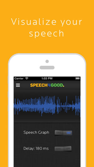 Diapo 2 : application speech4good interface