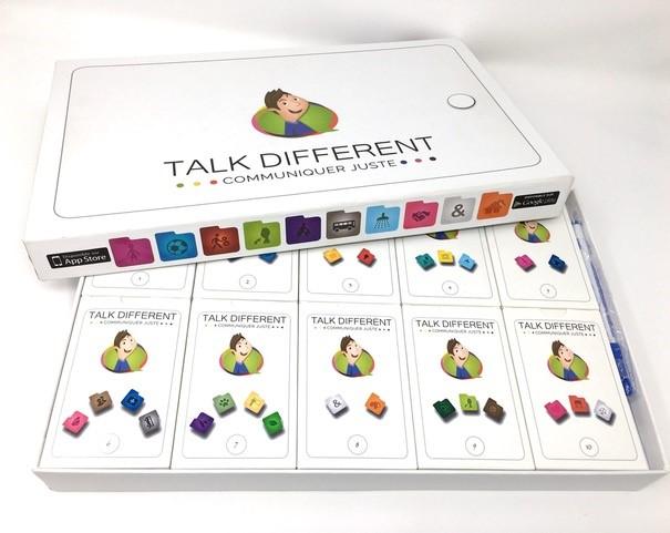 Diapo 5 : boite de jeux éducatifs talk different