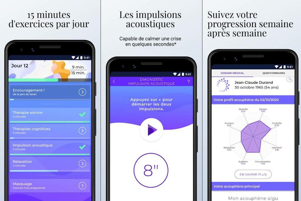 Diapo 3 : Image de l'application Diapason représentant ses fonctionnalités