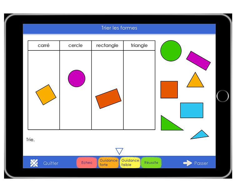 Diapo 4 : exemple d'activité dans l'application