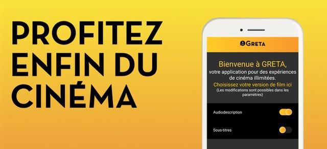 Diapo 3 : Photo de l'interface de l'application avec écrit à gauche : profitez enfin du cinéma