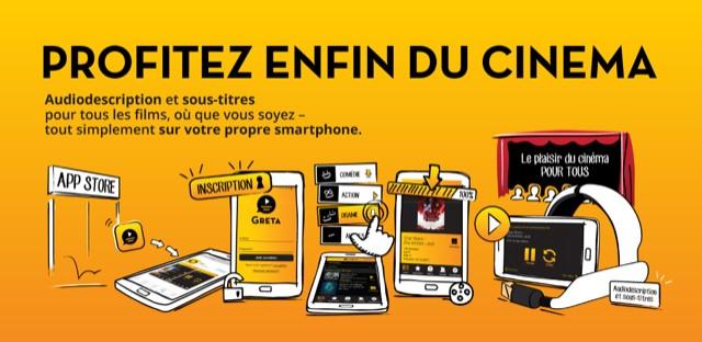 Diapo 4 : photos de plusieurs téléphones ayant ouvert l'application greta