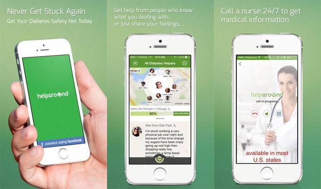 Diapo 5 : Image de l'application HelpAround sur smartphone