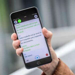 L'intelligence artificielle Ava sur un smartphone