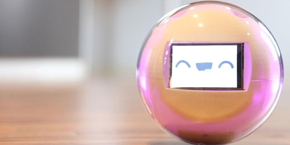 Diapo 6 : Robot leka, posé sur une table