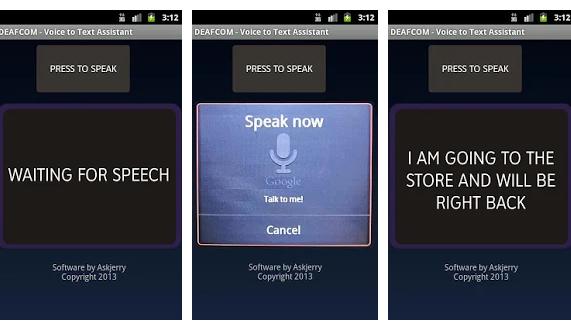 Diapo 1 : photo qui représente l'application deaf com