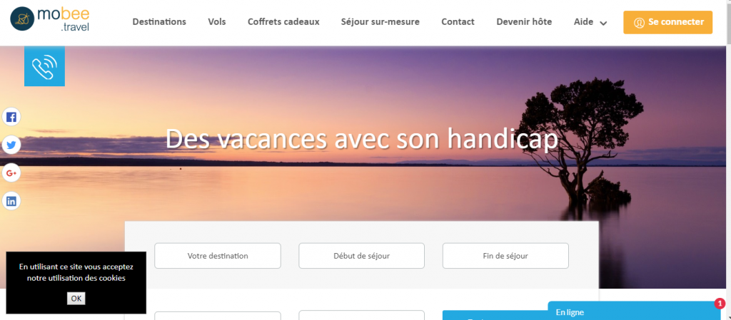 Diapo 2 : photo représentant la plateforme mobee travel
