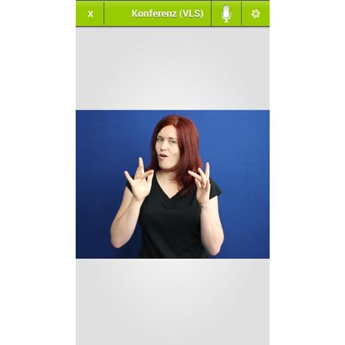 Diapo 4 : Image d'une femme qui traduit en Langue des Signes dans l'application VerbaVoice
