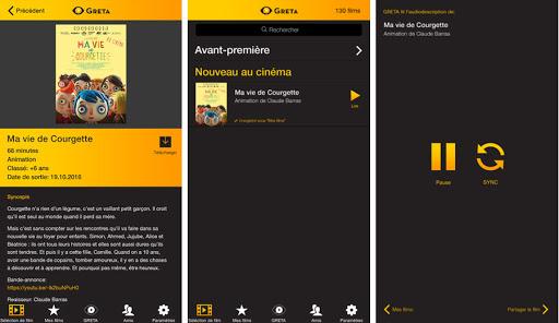 Diapo 5 : Interface de l'application Greta sur un smartphone