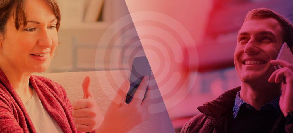 Diapo 2 : image représentant deux personnes utilisant l'application Elioz