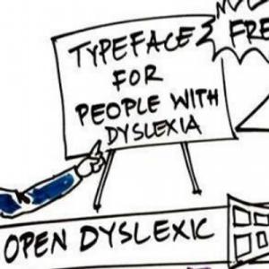 image représentant la police d'écriture open dyslexic