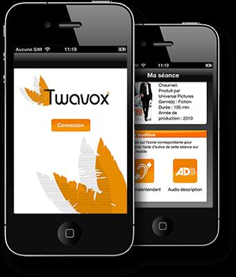 Diapo 4 : Image avec l'application Twavox sur un smartphone
