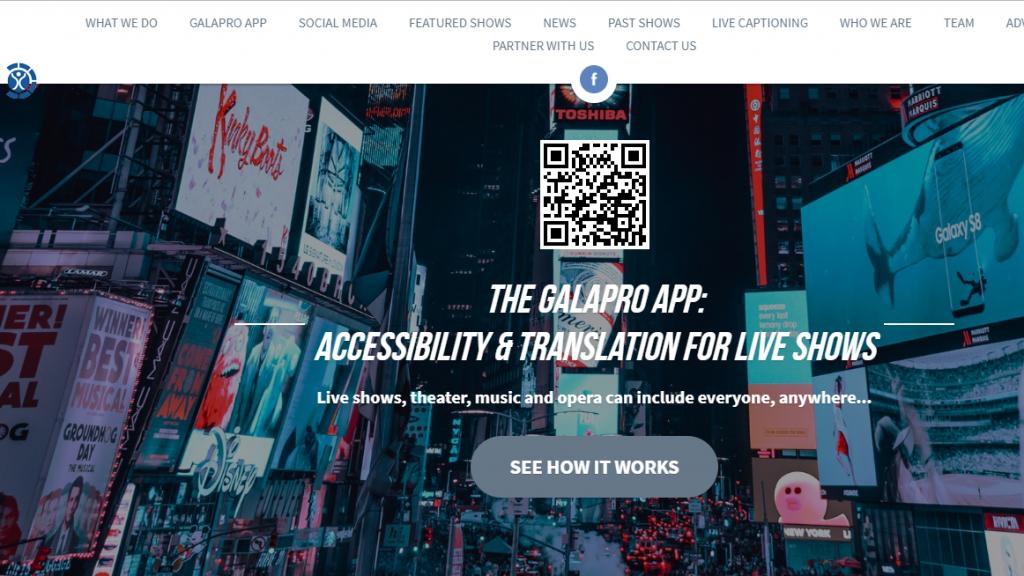 Diapo 3 : page d'accueil du site internet de galapro