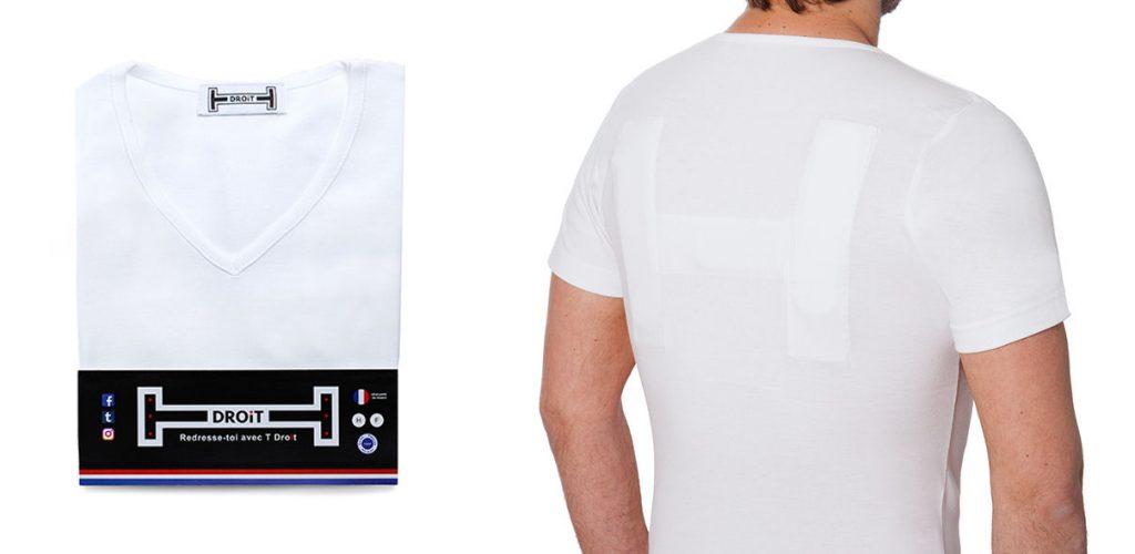 Diapo 2 : photo représentant le tee-shirt t-droit porté par un homme