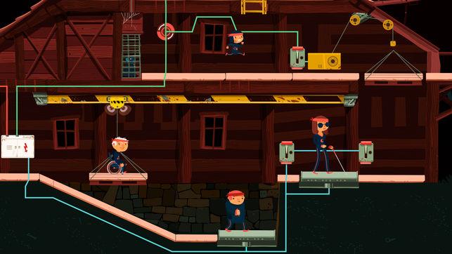Diapo 3 : photo représentant les 4 personnages du jeu en pleine action